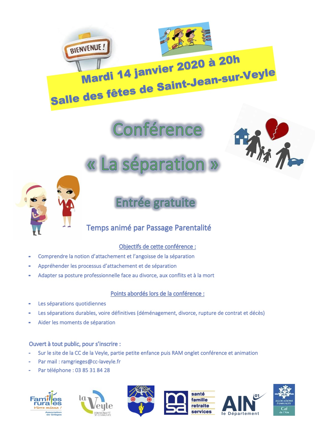 Soiree Conference sur le theme de la separation
